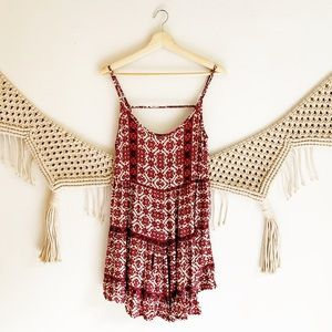 Brandy Melville Floral Ruffle Hem Tunic Dress
